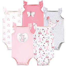 Hudson Baby® Size 9-12M 5-Pack Sweet Bunny Sleeveless Bodysuits