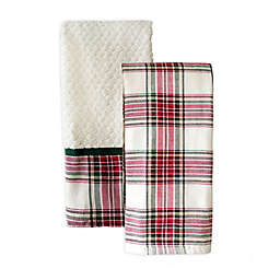 Bee & Willow™ Diamond Dobby Woven Plaid Hand Towels (Set of 2)
