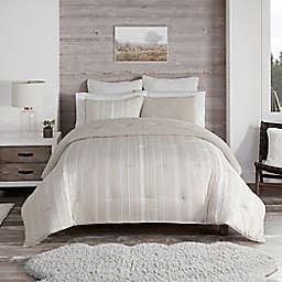 UGG® Devon Faux Sherpa 3-Piece Reversible King Comforter Set in Shoreline Stripe