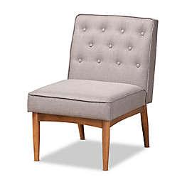 Baxton Studio Marlee Dining Chair in Grey Fabric