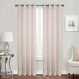 Simply Essential™ Voile 108-Inch Grommet Sheer Window Curtain Panel in Blush (Single)