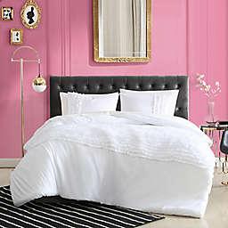 Betsey Johnson® Romantic Ruffles Solid Duvet Cover Set in White