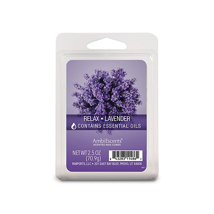 Alternate image 1 for AmbiEscents™ Relax Lavender 6-Pack Wax Fragrance Cubes