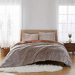 Tipped Faux Fur 3-Piece Full/Queen Comforter Set in Honey
