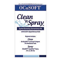 OCuSOFT® Clean 'n Spray™ Eyelid Cleansing Convenience Kit