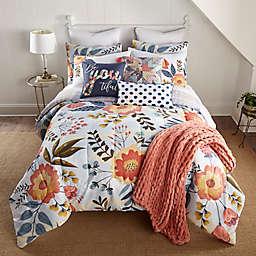 Donna Sharp Coral Crush 3-Piece Comforter Set in White