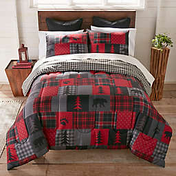 Red Forest 3-Piece Reversible Comforter Set