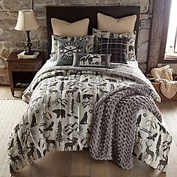 Forest Weave 3-Piece Reversible Queen Comforter Set in Beige/Brown