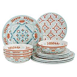 Baum Folk Medallion 12-Piece Dinnerware Set