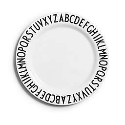 Melamine Plate in White/Black