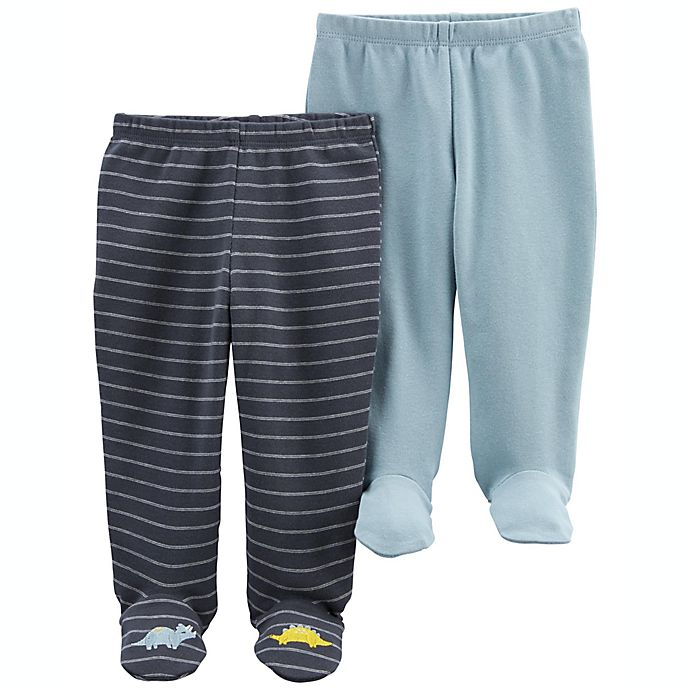 Alternate image 1 for carter's® 2-Pack Cotton Pull-On Footed Pants