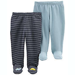 carter's® 2-Pack Cotton Pull-On Footed Pants