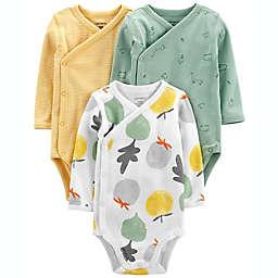 carter's® Preemie 3-Pack Fruit Side-Snap Bodysuits