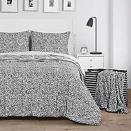 Bella Cruella 2-Piece Down Alternative Reversible Twin/Twin XL Comforter Set in Black