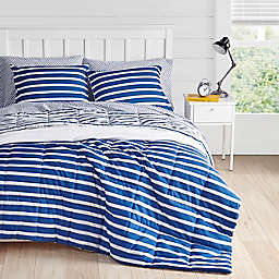 Nantucket 2-Piece Down Alternative Reversible Twin/Twin XL Comforter Set in Navy
