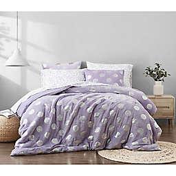 Metallic Dot 7-Piece Full Comforter Set in Purple