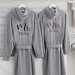 Elegant Couple Personalized Sweatshirt Robe