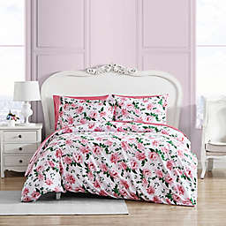 Betsy Johnson® Blooming Roses Duvet Cover Set in Pink/Green
