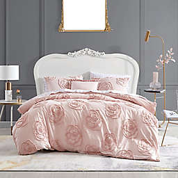 Betsey Johnson® Rambling Rose Twin Duvet Cover Bonus Set in Pink
