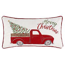 """Levtex Home Elden Pines """"Merry Christmas"""" Rectangular Throw Pillow"""