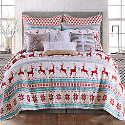 Levtex Home Silent Night 3-Piece Reversible Full/Queen Quilt Set in Red