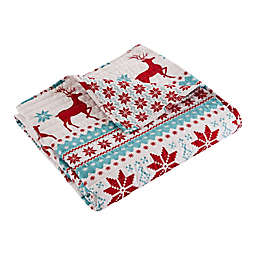 Levtex Home Silent Night Reversible Quilted Throw Blanket in Red