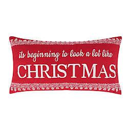 Levtex Home Oscar & Grace Bretton Woods Christmas Oblong Throw Pillow in Red