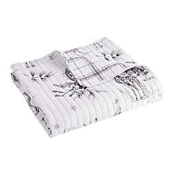 Levtex Home Sleigh Bell Reversible Quilted Throw Blanket in Grey
