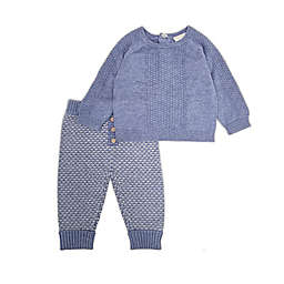 Clasix Beginnings™ by Miniclasix® Size 12M 2-Piece Sweater and Pant Set in Blue/Grey