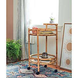 Wild Sage™ Daza Round Rattan Bar Cart in Natural