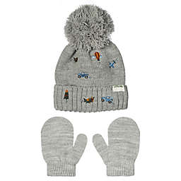Little Me® Newborn Transportation Hat and Mittens Set in Grey