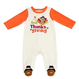 Baby Starters® First Thanksgiving Footie Sleep and Play in White
