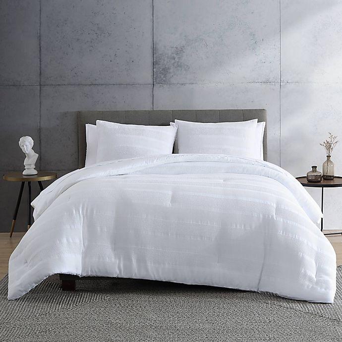 Alternate image 1 for ED Ellen DeGeneres Waffle Stripe King Comforter Set in White