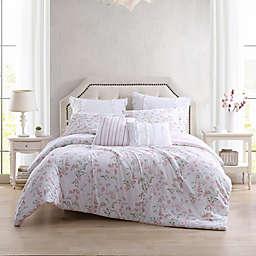 Laura Ashley® Fawna Twin Comforter Bonus Set in Blush/Green