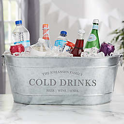Family Market Personalized Galvanized Beverage Tub