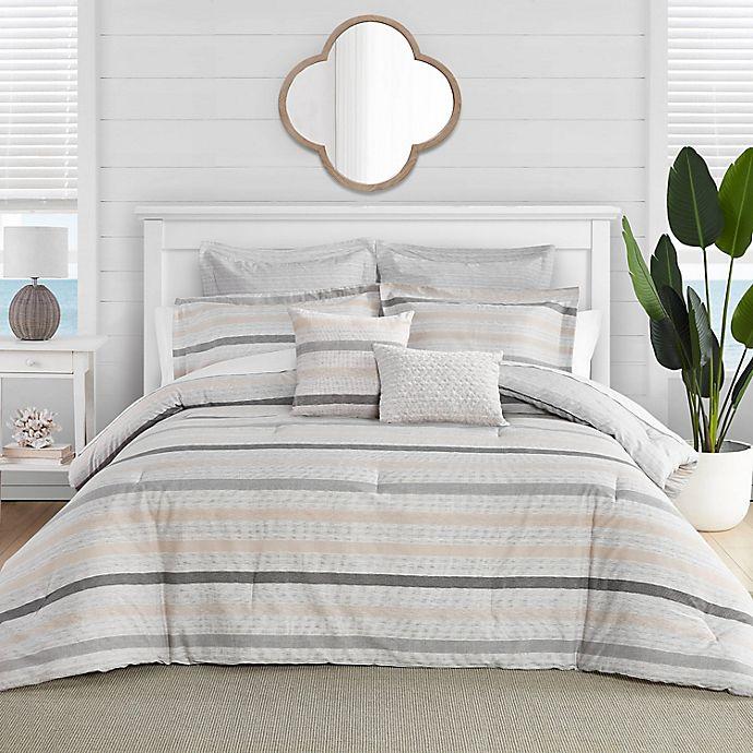 Alternate image 1 for Tommy Bahama® Sandy Beach King Comforter Bonus Set in Grey