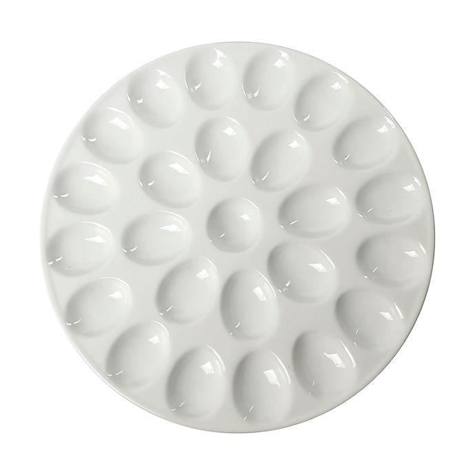 Alternate image 1 for Our Table™ Simply White Egg Platter