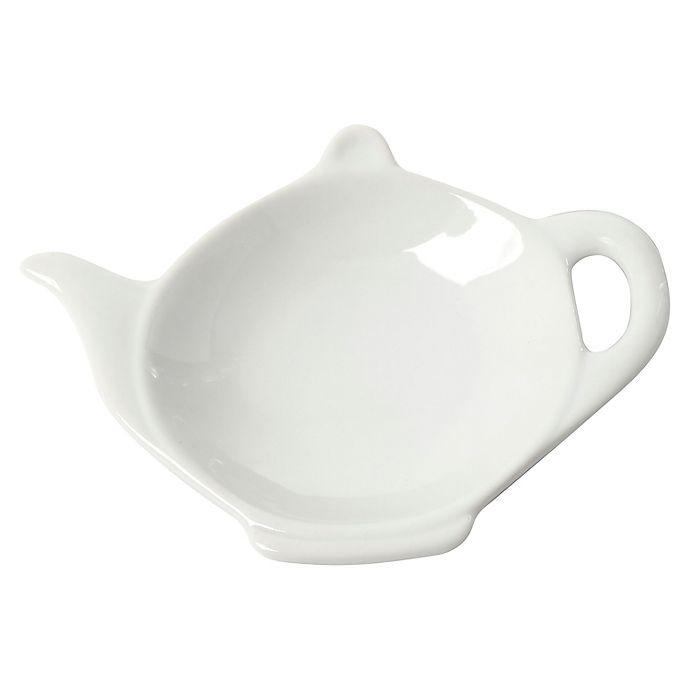 Alternate image 1 for Our Table™ Simply White Tea Bag Caddy