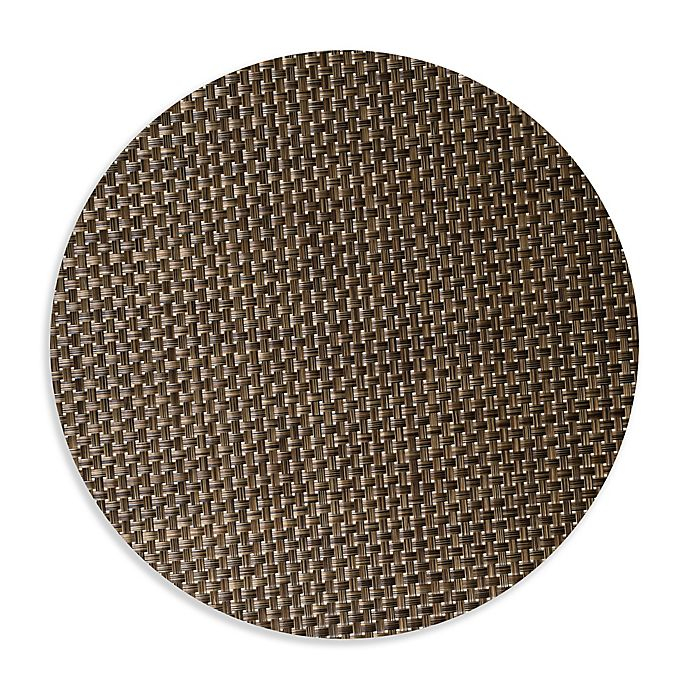 Alternate image 1 for Studio 3B™ Bistro Woven Vinyl Round Placemats in Coffee (Set of 4)