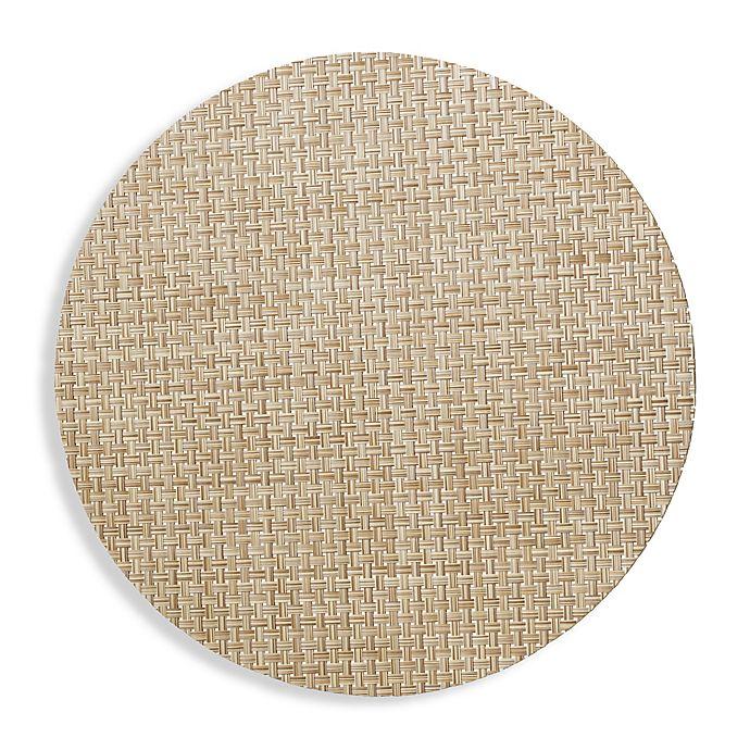 Alternate image 1 for Studio 3B™ Bistro Woven Vinyl Round Placemats in Beige (Set of 4)
