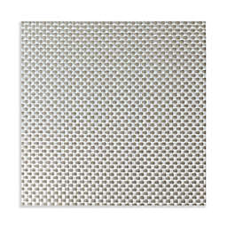 Studio 3B™ Bistro Woven Vinyl Square Placemats in Silver (Set of 4)