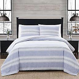 London Fog® Stripe Flannel Duvet Set