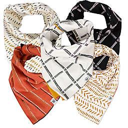 The Honest Company® 5-Pack Sketchy Grid Reversible Bandana Bib Burp Cloths