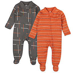 The Honest Company® Size 6-9M 2-Pack Dotted Strip/Autumn Leaf Sleep & Plays