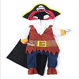 Pet Life® Captain Snuggles Pirate X-Large Dog Costume in Navy