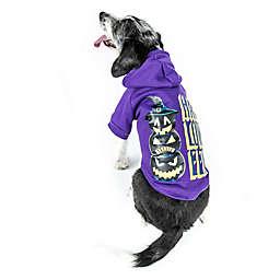 Pet Life® LED Pumpkins Halloween Dog Hoodie in Purple