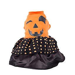 Pet Life® Large Pumpkin LED Dress Dog Halloween Costume in Orange