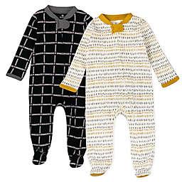 The Honest Company® Newborn 2-Pack Pencil Dash Sleep & Plays in Yellow/Grey