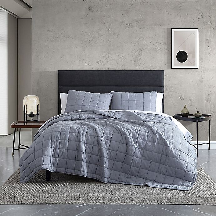 Alternate image 1 for Kenneth Cole New York® Carmine King Quilt Set in Grey