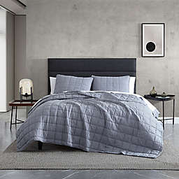 Kenneth Cole New York® Carmine King Quilt Set in Grey